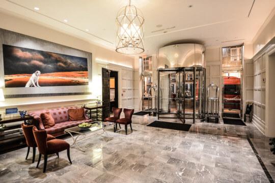 Elegantly decorated lobby