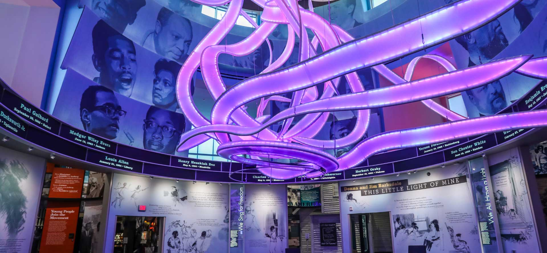 Interior of the Mississippi Civil Rights Museum