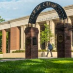 The arch of the Walk of Champions on the Ole Miss Grove.   Kevin Bain, Ole Miss Digital Imaging Services
