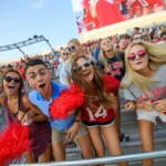 Students cheering on the Ole Miss football team.   Thomas Graning, Ole Miss Digital Imaging Services