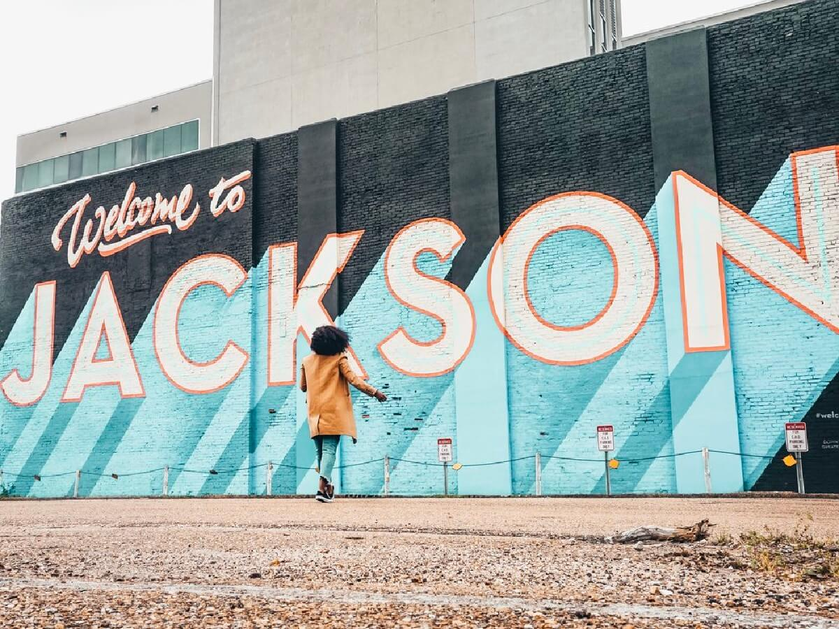 This mural, located in downtown Jackson at the corner of Pearl and State streets is one of the first that drivers will see coming into town off I-55.